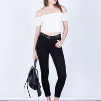 Simple Rolled Up Jeans