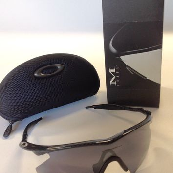 Rare OAKLEY M Frame Heater Carbon Fiber Black Iridium Lens with soft case