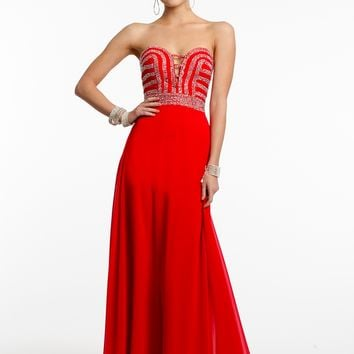 Strapless Beaded Bodice Dress from Camille La Vie and Group USA
