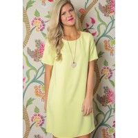 EVERLY: Such A Charmer Dress-Yellow