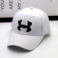 Fashion Under Armour Enbroidery Baseball Cap Hats- White