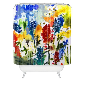 Ginette Fine Art Texas Blue Bonnets Shower Curtain