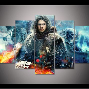 Game of Thrones John Snow canvas wall art print canvas home decor