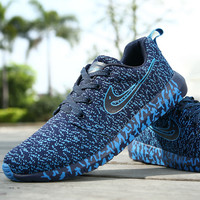 """NIKE"" The new autumn and winter men's sports shoes men running shoes jogging shoes, men's knit leisure travel"