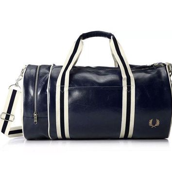 ESB3DH FRED PERRY LEATHER DUFFLE