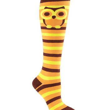 Sock It To Me Striped Owl Socks
