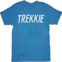 Star Trek Trekkie Turquoise Blue Adult T-Shirt