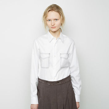 Embroidered Oxford Cotton Shirt by Comme des Gar amp;amp;#231;ons Comme des Gar amp;amp;#231;ons
