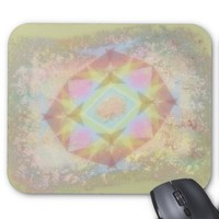 Warped Kaleidoscope - Light Colored Abstract Mouse Pad