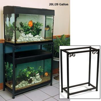 Aquarium Stands & Furniture: Titan Eze Metal Aquarium Double Stands