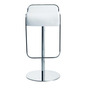 Lem Bar Stool Chair, White