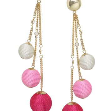Let it Linger Earrings in Pink and Gold