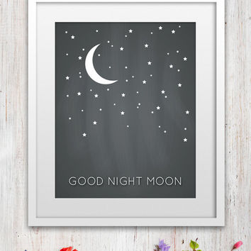 "Baby's Nursery ""Good Night Moon"" Art Print"