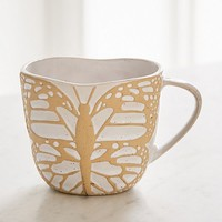 Butterfly-Shaped Mug   Urban Outfitters