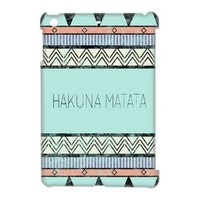 Aztec Tribal Print Hakuna Matata for Ipad Mini ,Best Hard Plastic Case,Hakuna Matata Ipad Case
