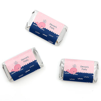 Baby Shower Mini Candy Bar Wrapper Favors - Tale Of A Girl Whale