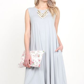 Sleeveless Swing Pocket Dress