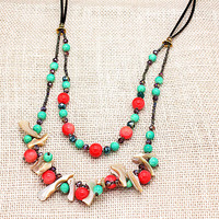 newest design handmade colorful natural shell and crystal beads Long Necklace trendy Bohemian party Charm jewelry for Women