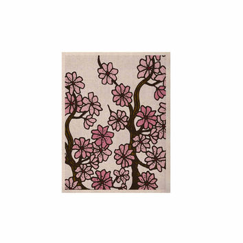 "Art Love Passion ""Cherry Blossoms"" White Pink KESS Naturals Canvas (Frame not Included)"