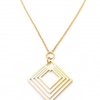ZENZII Diamond Layer Cut Pendent Necklace