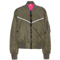 Polka-dot bomber jacket