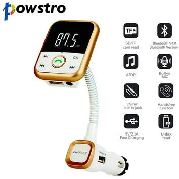 Powstro BT67 Handsfree LCD Car Wireless Bluetooth Kit SD Card Mp3 Player Cars Charger FM Transmitter Remote Control