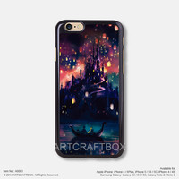 Rapunzel Lanterns Disney Oil Painting iPhone case 083