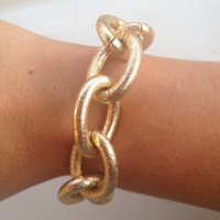 The Sadie Bracelet - Gold Textured Chain, Preppy and Nautical Style (Jcrew Inspired)