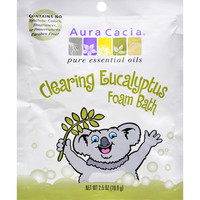 Aura Cacia Clearing Foam Bath - Eucalyptus - Case Of 6 - 2.5 Oz