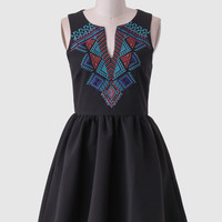 Canyon Horizon Embroidered Dress