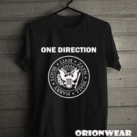One Direction Ramones Logo Original T Shirt Tee Black and White Color Unisex - DR1