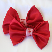 Snow White Clip-On Bow