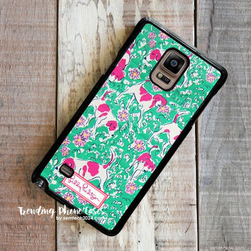 Dog Yard - Lilly Pulitzer Samsung Galaxy Note 4 Case Cover for Note 3 Note 2 Case