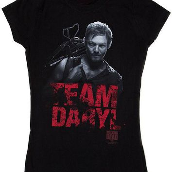 WALKING DEAD TEAM DARYL Womens Junior Cut T-Shirt S-XL