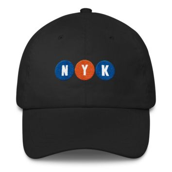 New York Basketball Subway Stop Dad Hat