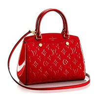 Authentic Louis Vuitton Monogram Vernis Leather Brea PM Handbag Article: M50602 Cherry Made in France