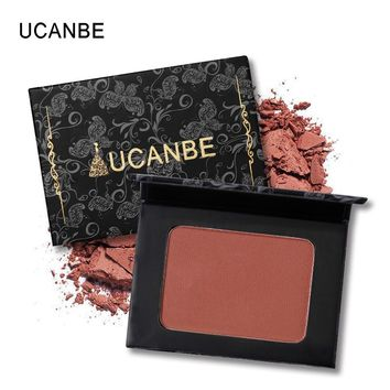 UCANBE Brand 5 Style Single Mineral Blush Makeup Palette Face Cheek Nude Natural Pressed Powder Blusher Long Lasting Cosmetics