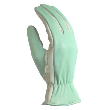 Digz Women's Medium Green Full Grain Goatskin Glove-78221-010 - The Home Depot