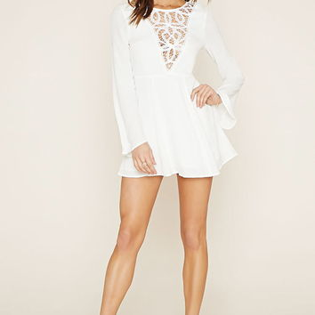 Crochet-Paneled Mini Dress | Forever 21 - 2000184865