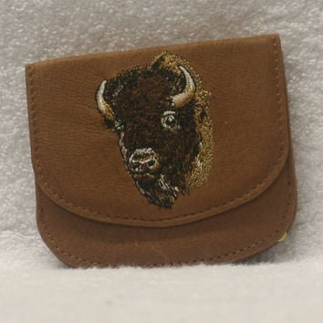 Leather Handy wallet - Bison Head