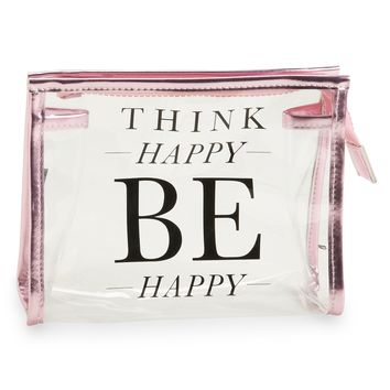 Live Love Dream  LLD Happy Clear Makeup Bag