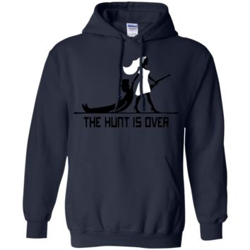 VALENTINES T-Shirt - the hunt is over G185 Gildan Pullover Hoodie 8 oz.