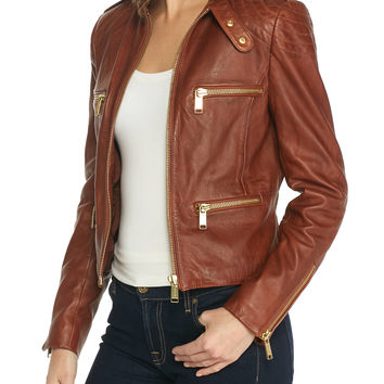 MICHAEL Michael Kors Multi-Stitch Moto Jacket