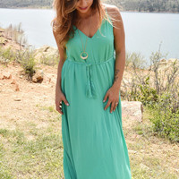 Over the Moon Maxi Dress Jade