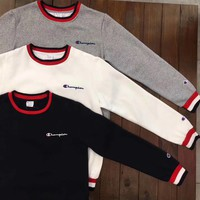 Champion Retro Color edge Round neck Pullover Sweater One-nice™