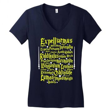 Expelliarmus Harry Potter Spell Women's V-Neck T-Shirt