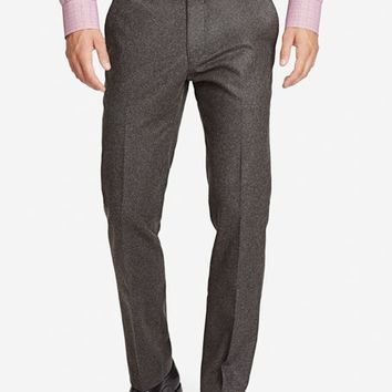 Americano Wool Slim Dress Pants - Olive Tweed
