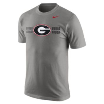 Nike College Logo (Georgia) Men's T-Shirt Size Small (Grey)