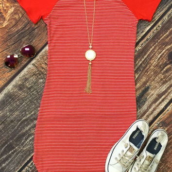 Home Team Tunic Dress: Red