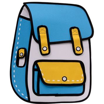 Boys Backpack Bag RUIPAI 3D Cartoon school bag Quadratic element  Children Package Cool Bags for And Girls Back pack kids Cute AT_61_4